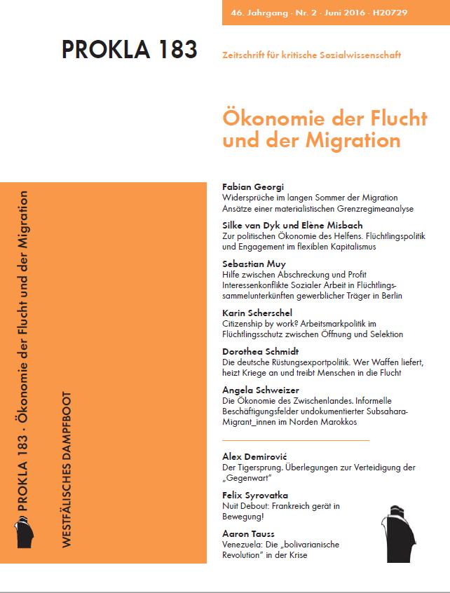 Ansehen Bd. 46 Nr. 183 (2016): Ökonomie der Flucht und der Migration