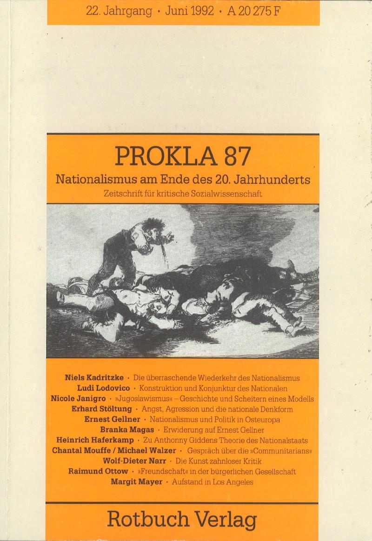 Ansehen Bd. 22 Nr. 87 (1992): Nationalismus am Ende des 20. Jahrhunderts