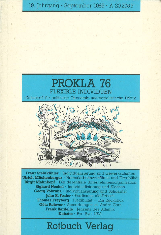 Ansehen Bd. 19 Nr. 76 (1989): Flexible Individuen