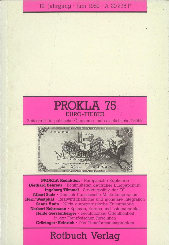 Ansehen Bd. 19 Nr. 75 (1989): Euro-Fieber
