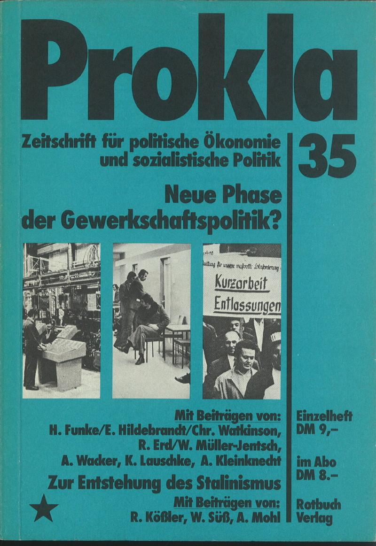 Ansehen Bd. 9 Nr. 35 (1979): Neue Phase der Gewerkschaftspolitik?