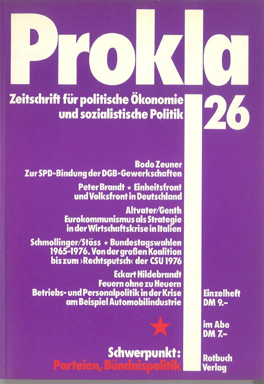 Ansehen Bd. 7 Nr. 26 (1977): Parteien, Bündnispolitik