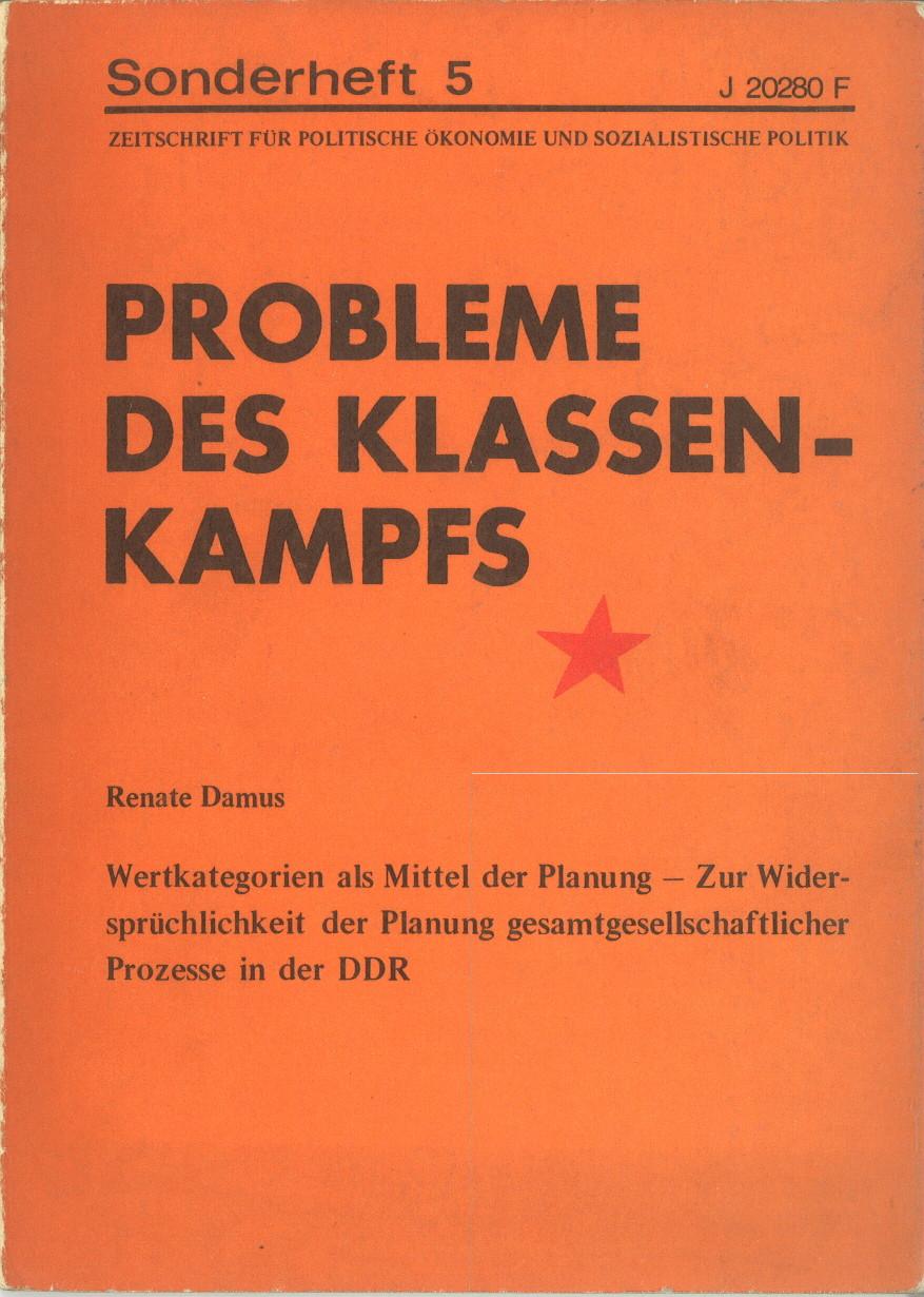 Ansehen Bd. 3 Nr. 5 (1973): Probleme des Klassenkampfs - Sonderheft