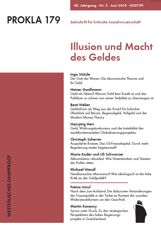 Ansehen Bd. 45 Nr. 179 (2015): Illusion und Macht des Geldes