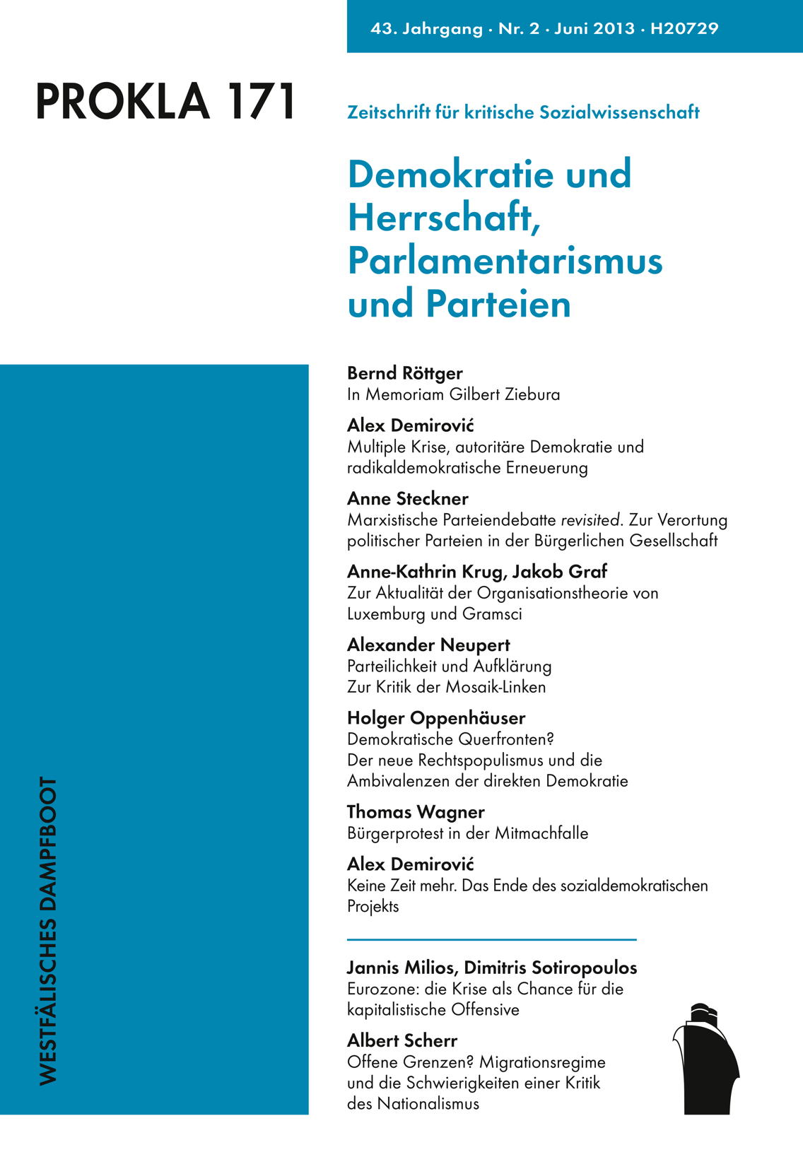 Ansehen Bd. 43 Nr. 171 (2013): Demokratie und Herrschaft, Parlamentarismus und Parteien