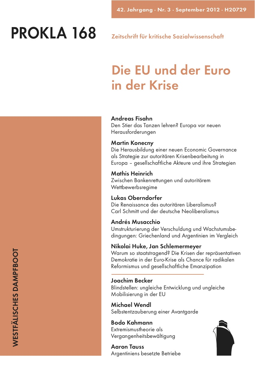 Ansehen Bd. 42 Nr. 168 (2012): Die EU und der Euro in der Krise