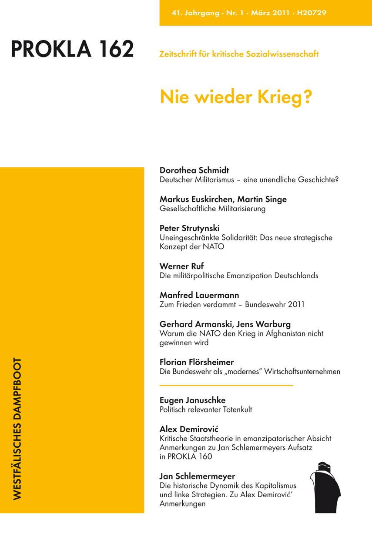 Ansehen Bd. 41 Nr. 162 (2011): Nie wieder Krieg?