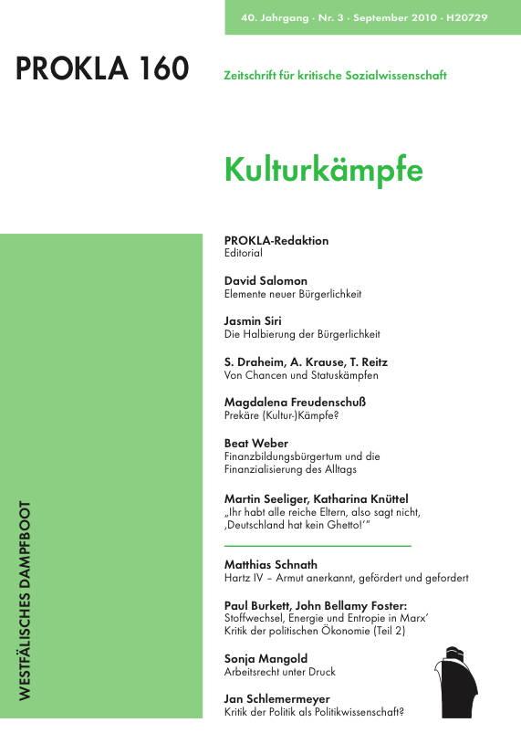 Ansehen Bd. 40 Nr. 160 (2010): Kulturkämpfe