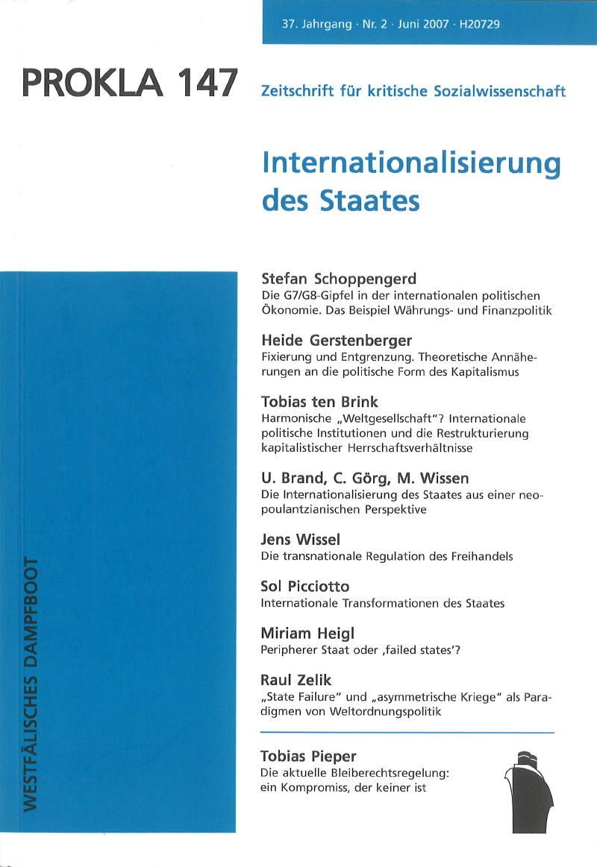Ansehen Bd. 37 Nr. 147 (2007): Internationalisierung des Staates