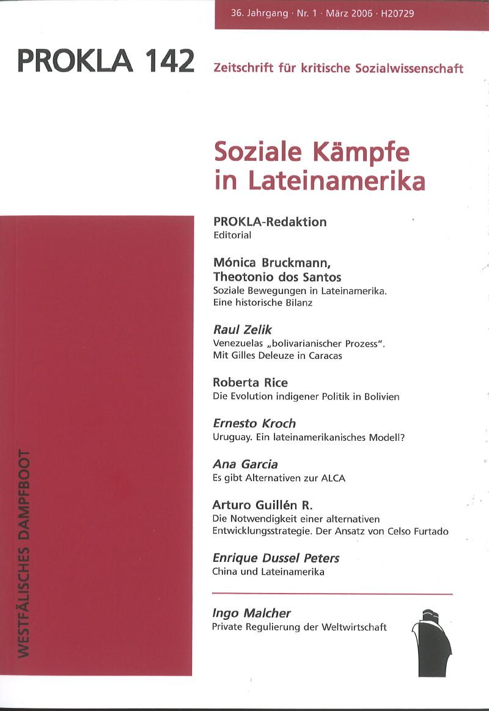 Ansehen Bd. 36 Nr. 142 (2006): Soziale Kämpfe in Lateinamerika