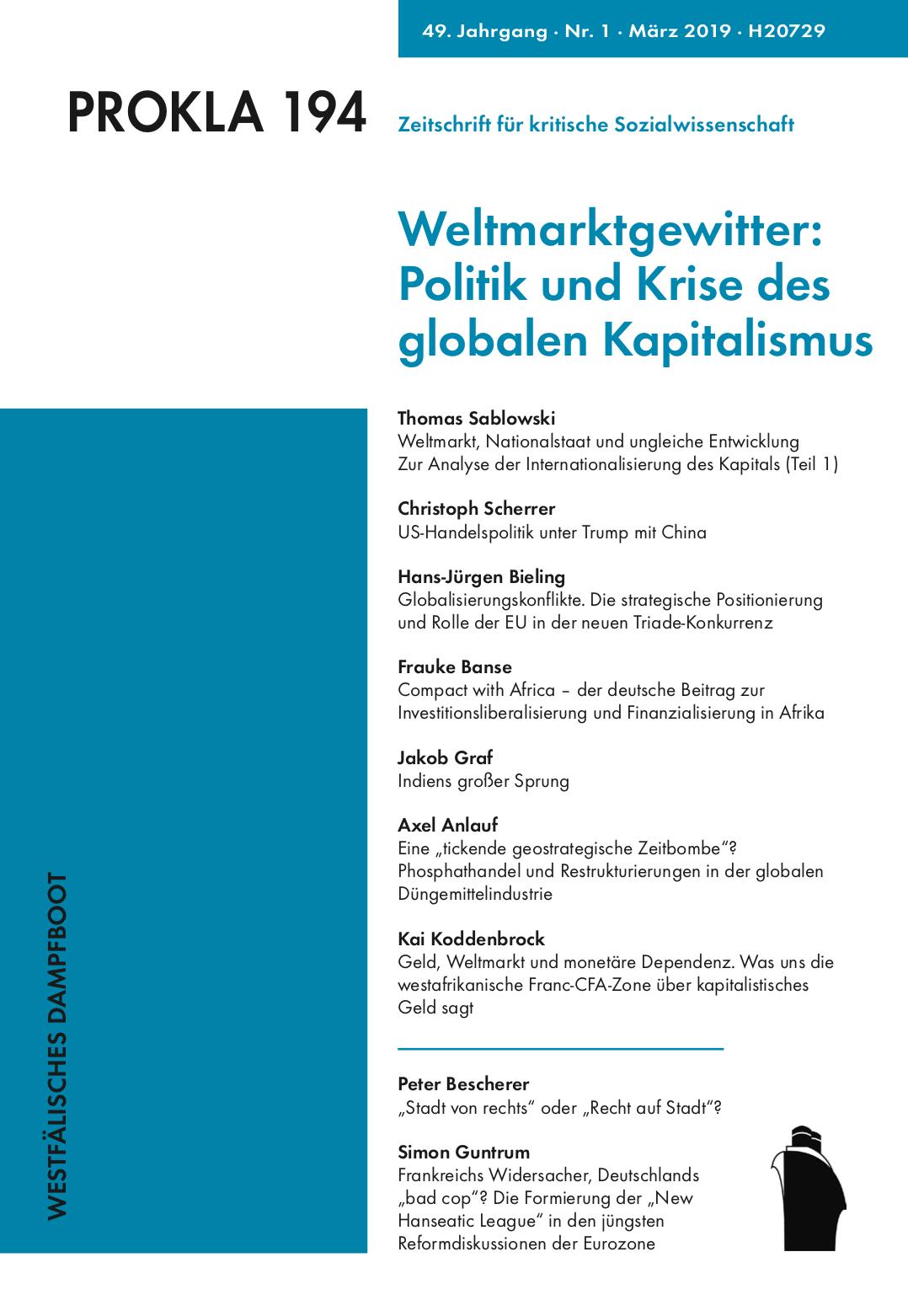 Ansehen Bd. 49 Nr. 194 (2019): Weltmarktgewitter