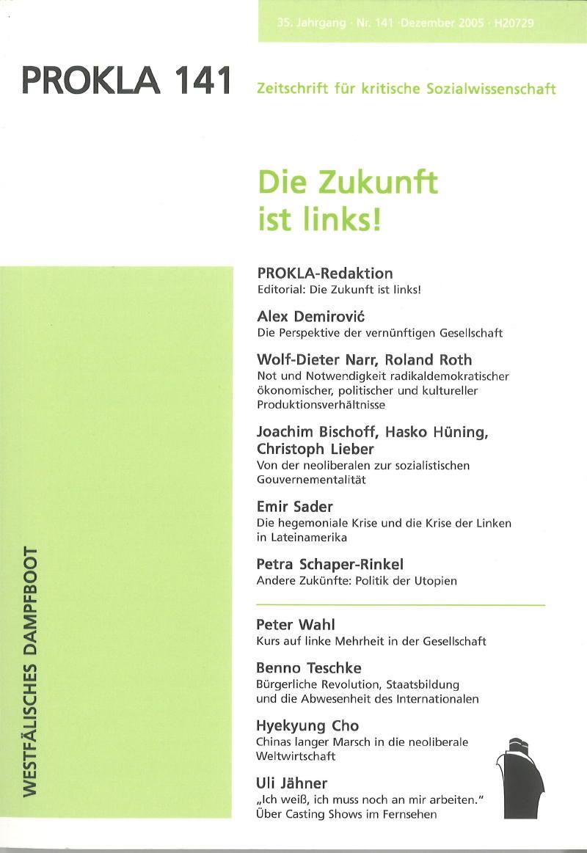 Ansehen Bd. 35 Nr. 141 (2005): Die Zukunft ist links!