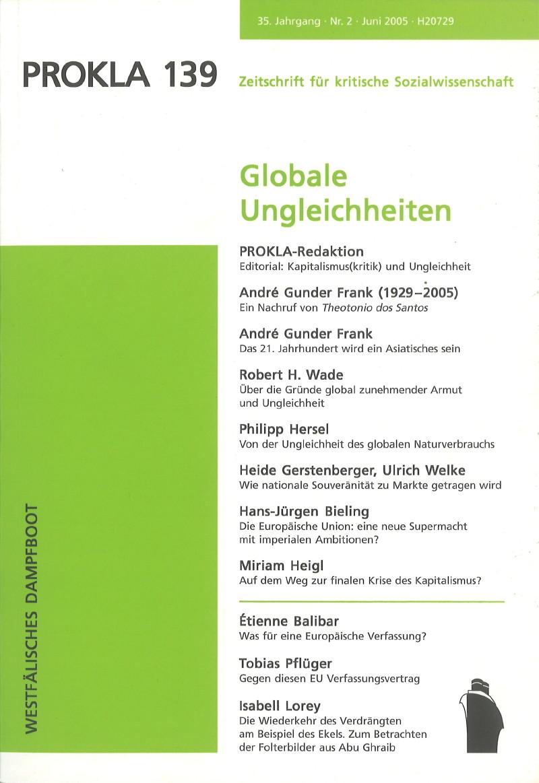 Ansehen Bd. 35 Nr. 139 (2005): Globale Ungleichheiten
