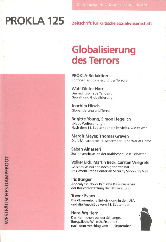 Ansehen Bd. 31 Nr. 125 (2001): Globalisierung des Terrors